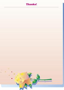 バラのレターセットのイラスト素材 [FYI00894437]