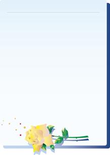 バラのレターセットのイラスト素材 [FYI00894438]