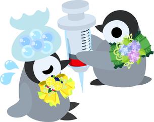 おしゃれで可愛い赤ちゃんペンギンのイラストのイラスト素材 [FYI00894452]