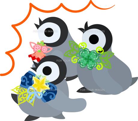 おしゃれで可愛い赤ちゃんペンギンのイラストのイラスト素材 [FYI00894454]