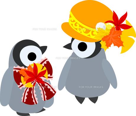 おしゃれで可愛い赤ちゃんペンギンのイラストのイラスト素材 [FYI00894455]