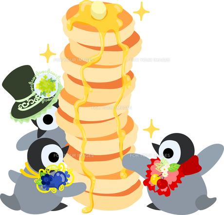 おしゃれで可愛い赤ちゃんペンギンのイラストのイラスト素材 [FYI00894457]