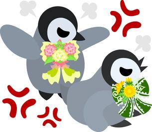 おしゃれで可愛い赤ちゃんペンギンのイラストのイラスト素材 [FYI00894458]