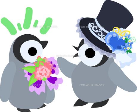 おしゃれで可愛い赤ちゃんペンギンのイラストのイラスト素材 Fyi ストックフォトのamanaimages Plus