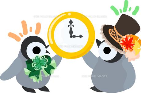おしゃれで可愛い赤ちゃんペンギンのイラストのイラスト素材 [FYI00894461]