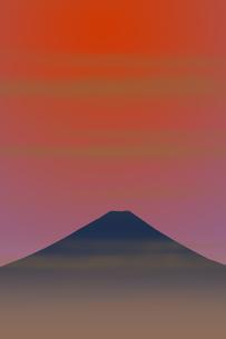 富士山と朝日のイラスト素材 [FYI00894478]