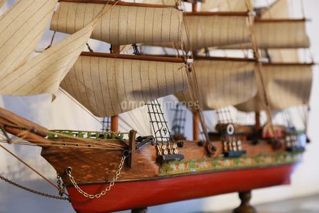帆船の模型の写真素材 [FYI00894851]
