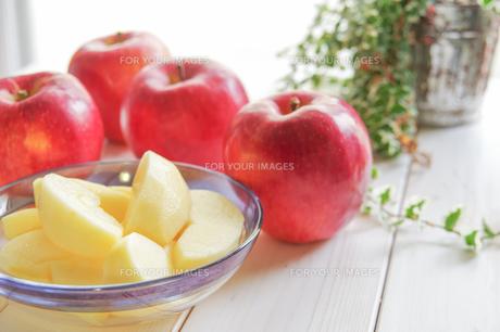 秋の味覚、林檎の写真素材 [FYI00894945]