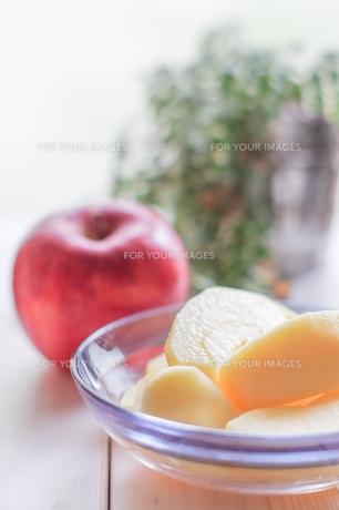 秋の味覚、林檎の写真素材 [FYI00894959]