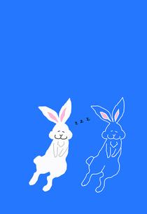 居眠りウサギの素材 [FYI00895819]