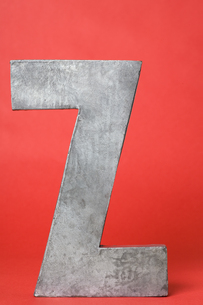 Letter Z with red backgroundの素材 [FYI00900842]