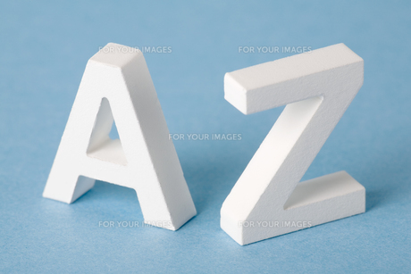 Letters A and Zの素材 [FYI00900866]