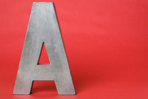 Letter A on red backgroundの素材 [FYI00900872]