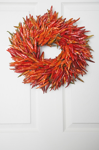 Wreath made of dried chilliesの素材 [FYI00901506]