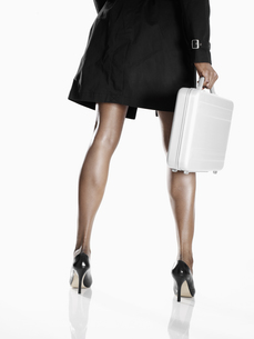 Businesswoman with briefcaseの素材 [FYI00901819]