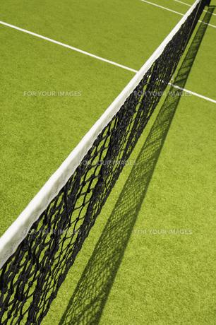 High angle view of tennis netの素材 [FYI00902398]