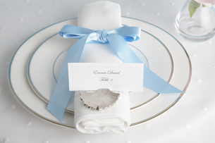 Place setting with place cardの素材 [FYI00903036]
