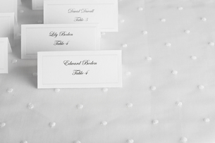 Place cards for wedding guestsの素材 [FYI00903051]