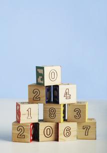 Wooden Numeral Blocksの素材 [FYI00905237]