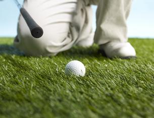 Golf Player Preparing to Hit Ballの素材 [FYI00905325]