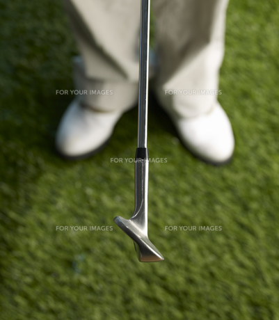 Golf Player with Clubの素材 [FYI00905342]