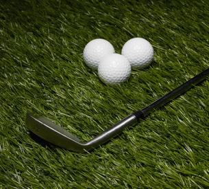 Golf Club and Three Ballsの素材 [FYI00905377]