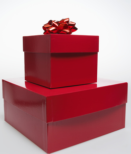 Two Red Gift Boxesの素材 [FYI00907153]