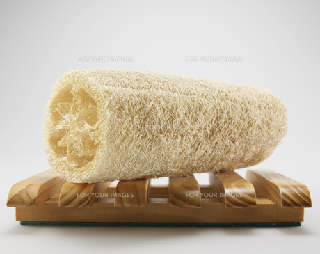Natural Sponge on Wooden Trayの素材 [FYI00907188]