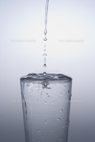 グラスに注がれる水の素材 [FYI00907622]