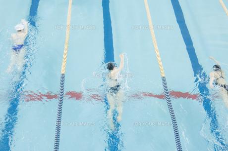 プールで泳ぐ女性たちの素材 [FYI00908771]