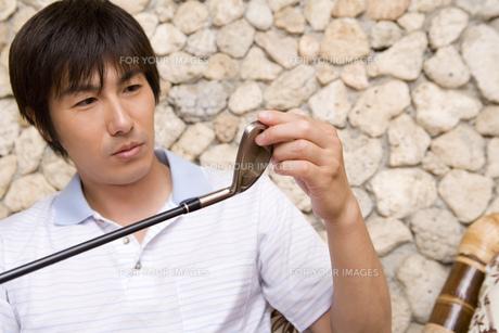 日本人男性ゴルファーの素材 [FYI00911261]