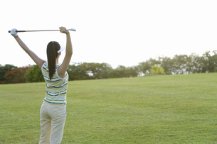 日本人女性ゴルファーの素材 [FYI00911265]