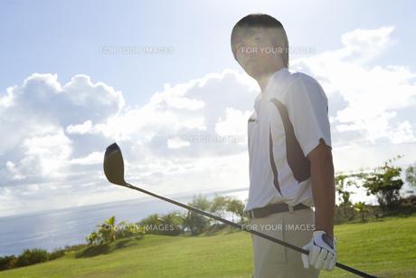 日本人男性ゴルファーの素材 [FYI00911289]