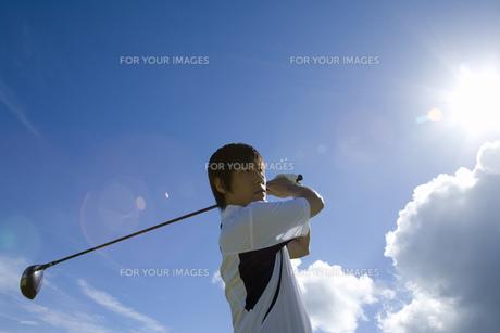 日本人男性ゴルファーの素材 [FYI00911311]