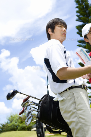 日本人男性ゴルファーの素材 [FYI00911313]