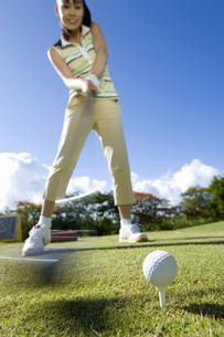 日本人女性ゴルファーの素材 [FYI00911342]