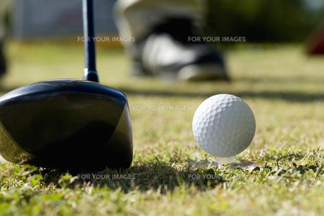 ゴルフクラブとボールの素材 [FYI00911385]