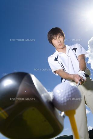 日本人男性ゴルファーの素材 [FYI00911392]