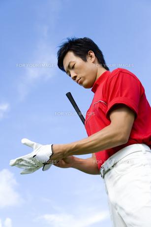 日本人男性ゴルファーの素材 [FYI00911397]