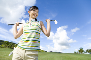 日本人女性ゴルファーの素材 [FYI00911418]