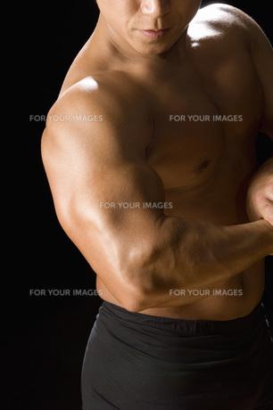 筋肉質の日本人男性の素材 [FYI00915944]