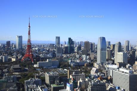東京タワーと六本木の街並みの素材 [FYI00919710]