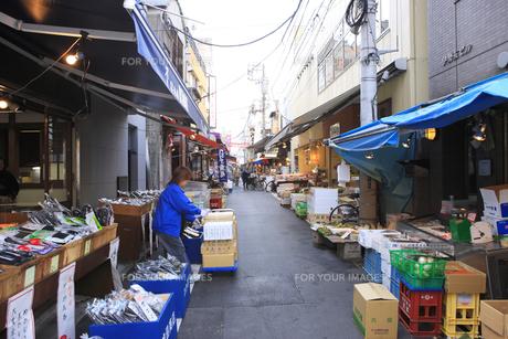 築地場外市場商店街の素材 [FYI00919782]