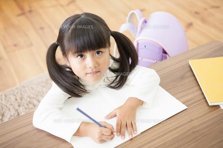 勉強をする女の子の写真素材 [FYI00922021]