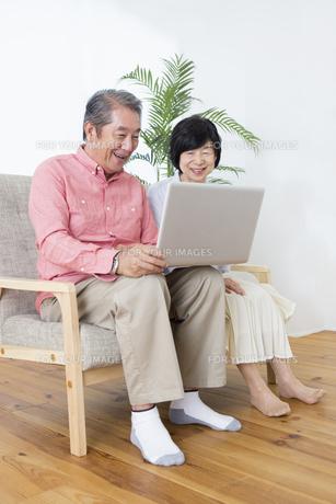 PCを操作する老夫婦の写真素材 [FYI00922049]
