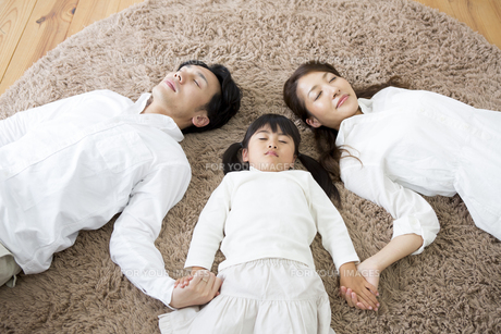 昼寝をする親子の写真素材 [FYI00922163]