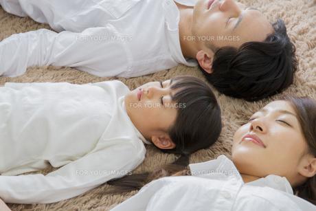 昼寝をする親子の写真素材 [FYI00922453]