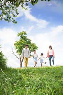 ピクニックをする家族の写真素材 [FYI00922589]