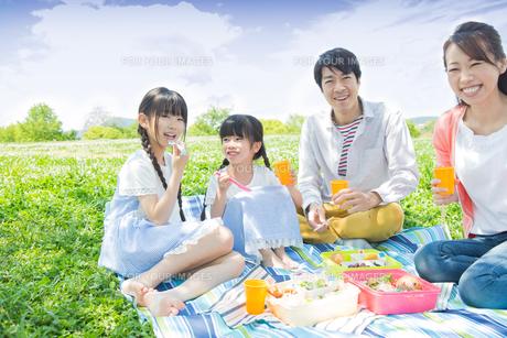 ピクニックをする家族の写真素材 [FYI00922608]