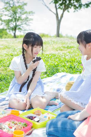 ピクニックをする家族の素材 [FYI00922619]